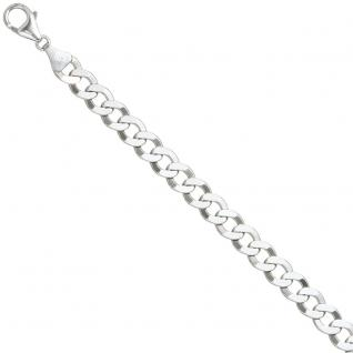 Flach-Panzerarmband 925 Sterling Silber 21 cm Armband Silberarmband Karabiner