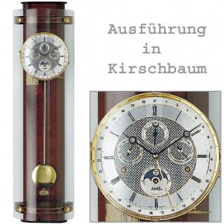 AMS 3633/9 Regulateur Regulator mit Pendel mechanisch Holz kirschbaum farben