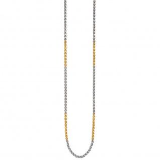 Zopfkette 585 Gelbgold Weißgold bicolor 2, 2 mm 42 cm Gold Kette Goldkette - Vorschau 4