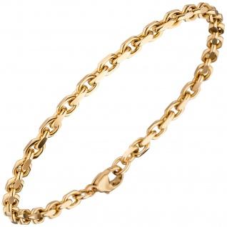 Ankerarmband 585 Gold Rotgold 19 cm Armband Goldarmband Karabiner