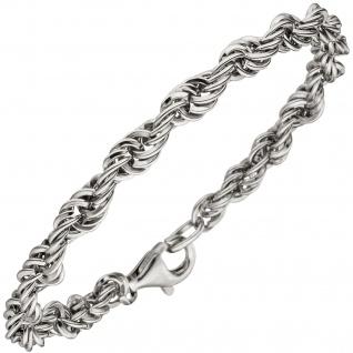 Kordelarmband 925 Sterling Silber 21 cm Armband Silberarmband