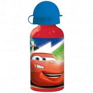 CARS Kinder Trinkflasche aus Aluminium rot 400 ml