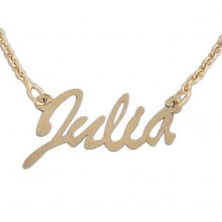Collier Name 333 Gold Gelbgold 43 cm Namens-Kette Halskette