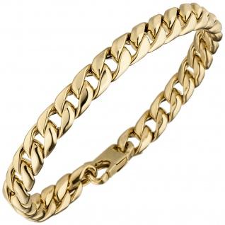 Panzerarmband 585 Gold Gelbgold 21 cm Armband Goldarmband
