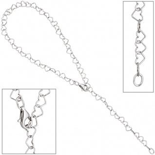 Fußkettchen Fußkette mit Anhänger Herz 925 Sterling Silber 27 cm Silberkette