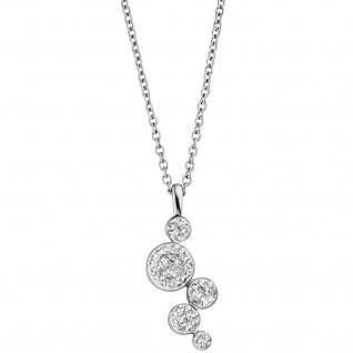 Collier Kette mit Anhänger Edelstahl mit SWAROVSKI® ELEMENTS 47 cm Halskette