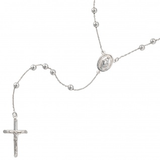 Halskette Kette Rosenkranz 925 Sterling Silber 60 cm