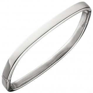 Armreif Armband eckig 925 Sterling Silber Silberarmband