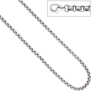 Erbskette 925 Sterling Silber 4, 5 mm 45 cm Kette Halskette Silberkette Karabiner - Vorschau 3