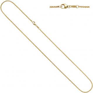 Erbskette 585 Gelbgold 2, 5 mm 50 cm Gold Kette Halskette Goldkette Karabiner