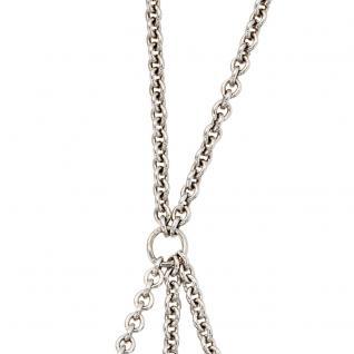 Collier Carrier 925 Sterling Silber für bis zu 3 Anhänger Beads 65 cm Kette
