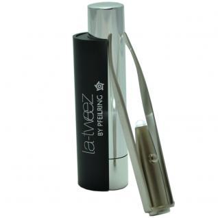 Pfeilring Pinzette, schwarz, mit LED-Lampe, 8, 5 cm lang