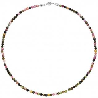 Halskette Kette Turmalin und Hämatin 45 cm