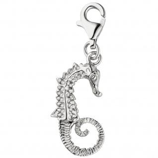 Einhänger Charm Seepferdchen 925 Sterling Silber Silbercharm Seepferd