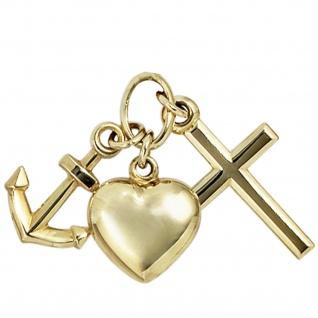 Anhänger Glaube Liebe Hoffnung 333 Gold Gelbgold