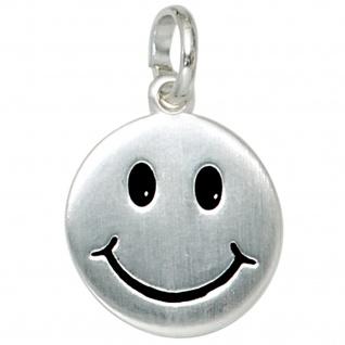 Kinder Anhänger Lächelndes Gesicht 925 Silber Kinderanhänger mit Kette 38 cm - Vorschau 3