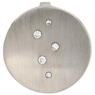 Anhänger rund 950 Platin matt 5 Diamanten Brillanten 0, 05ct. Platinanhänger