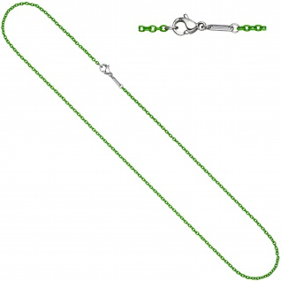 Rundankerkette Edelstahl grün lackiert 50 cm Kette Halskette Karabiner