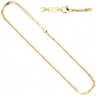 Halskette Kette 585 Gold Gelbgold 50 cm Goldkette Karabiner