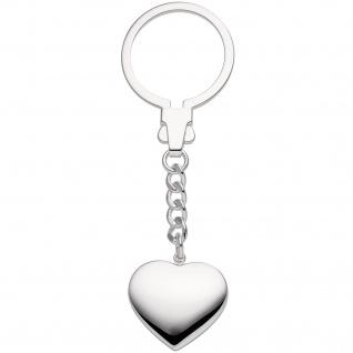 Schlüsselanhänger Herz 925 Sterling Silber Herzanhänger Silberanhänger