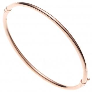 Armreif Armband oval 585 Gold Rotgold Goldarmreif Steckverschluss
