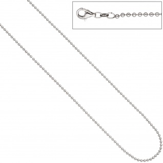Kugelkette 925 Silber 2, 0 mm 50 cm Kette Halskette Silberkette Karabiner - Vorschau 3