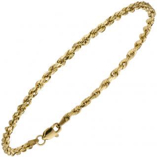 Kordelarmband 585 Gold Gelbgold 19 cm Armband Goldarmband