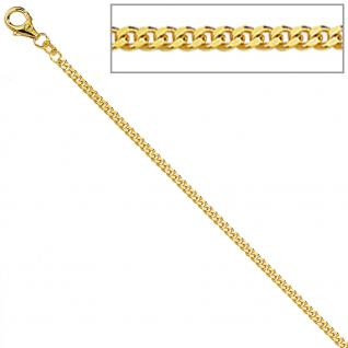 Panzerkette 333 Gelbgold diamantiert 1, 7 mm 36 cm Gold Kette Halskette Goldkette