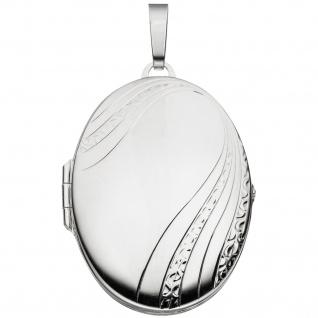 Medaillon oval 925 Sterling Silber Anhänger zum Öffnen