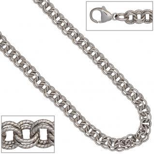 Zwillings-Ankerkette 925 Silber matt 5, 9 mm 45 cm Halskette Kette Karabiner