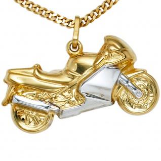 Anhänger Motorrad 333 Gold Gelbgold bicolor - Vorschau 2