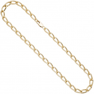 Lang-Panzerkette 925 Sterling Silber gold vergoldet 6, 9 mm 45 cm Kette Halskette