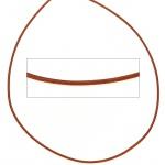 Lederschnur orange ca. 1 m lang Halskette Kette Leder