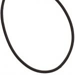 Leder Halskette Kette Schnur schwarz 100 cm