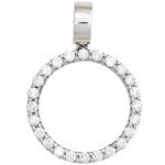 Anhänger rund 585 Gold Weißgold 24 Diamanten Brillanten 0, 40ct. Weißgoldanhänger