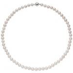 Kette mit Akoya Perlen und 925 Sterling Silber 43 cm Perlenkette