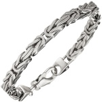 Königsarmband 925 Sterling Silber 21 cm Armband Silberarmband Karabiner