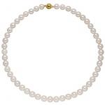 Kette mit Akoya Perlen und 925 Sterling Silber vergoldet 43 cm Perlenkette