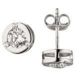 Ohrstecker 925 Sterling Silber 8 Zirkonia Ohrringe Silberohrringe
