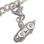 Einhänger Charm Rennwagen 925 Sterling Silber rhodiniert