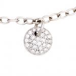 Armband 585 Gold Weißgold 29 Diamanten Brillanten 18, 5 cm Weißgoldarmband