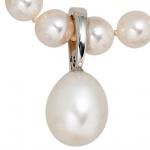 Einhänger Anhänger 585 Gold Weißgold 1 Süßwasser Perle Perlenanhänger