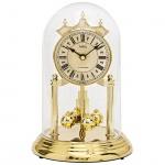 AMS 1204 Tischuhr mit Drehpendel Jahresuhr Drehpendeluhr Quarz golden
