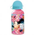 MINNIE MOUSE Kinder Trinkflasche aus Aluminium rosa 400 ml