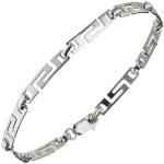Armband 925 Sterling Silber rhodiniert 20 cm Silberarmband Karabiner
