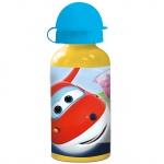 SUPERWINGS Kinder Trinkflasche aus Aluminium 400 ml