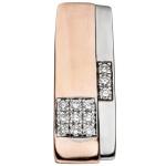 Anhänger 585 Gold Rotgold bicolor 12 Diamanten Brillanten 0, 13 ct. Goldanhänger
