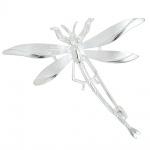 Brosche Anhänger Libelle 925 Sterling Silber mattiert Silberbrosche