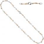 Collier Halskette 333 Gold Weißgold Rotgold bicolor 45 cm Kette Goldkette