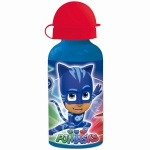 PJ MASKS Kinder Trinkflasche aus Aluminium blau rot 400 ml